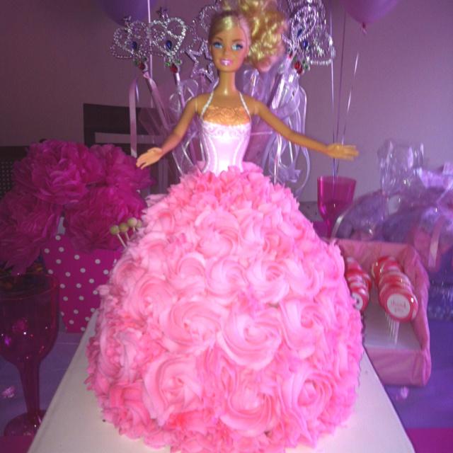 Princess Barbie cake Ava s 7th Birthday Ideas Pinterest