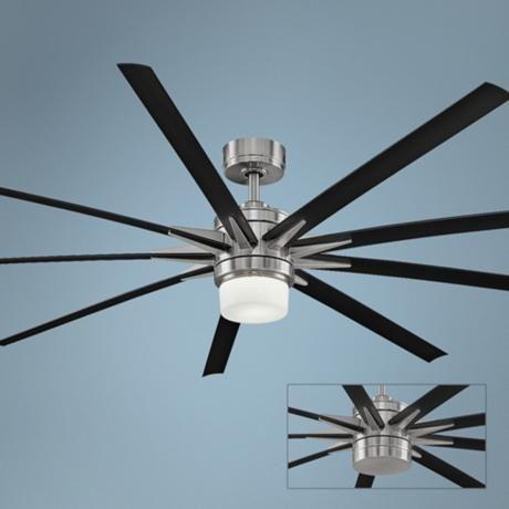 84 Fanimation Odyn Brushed Nickel LED Ceiling Fan