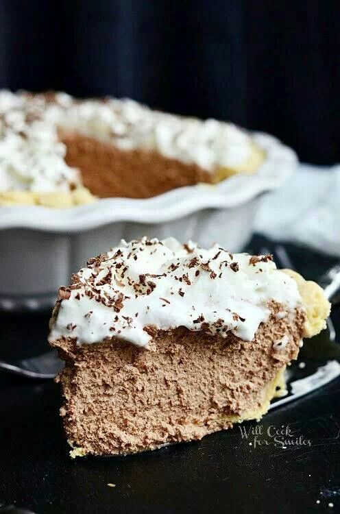 French Silk Pie With Graham Cracker Crust, Espresso And Kahlua Recipe ...