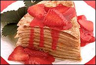 Strawberry Tortilla Torte :: I've actually made this before and it's ...