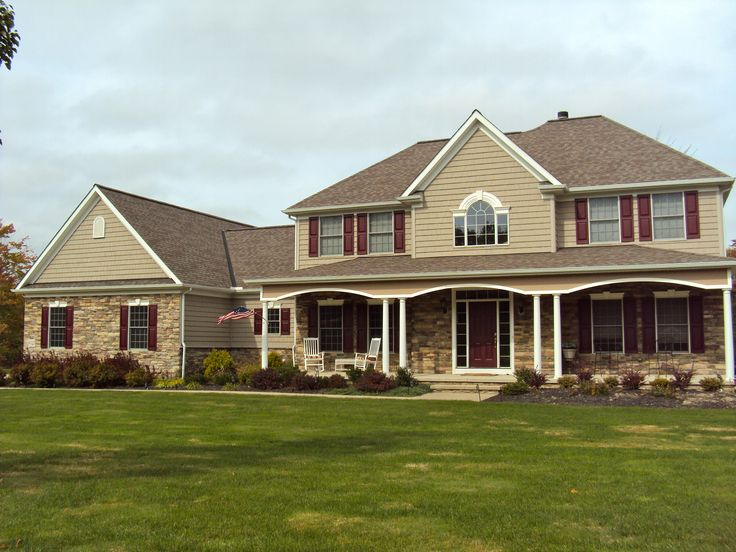 Cute two story house houses pinterest for Two story home