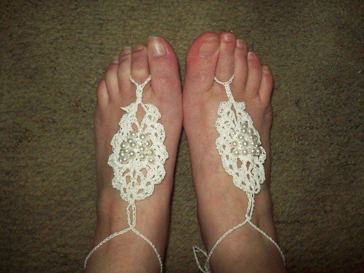Barefoot Sandals Crochet Free Misc Patterns Pinterest