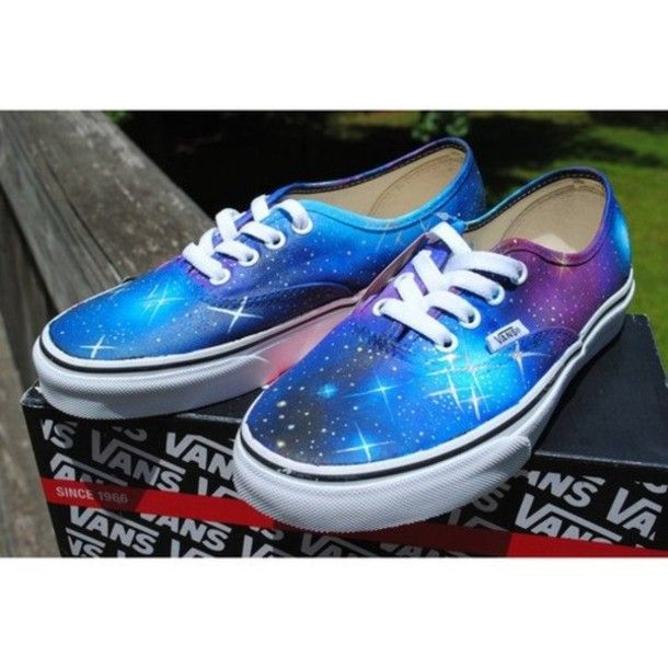 Galaxy Vans for Girls | Shoes: galaxy, vans - Wheretoget