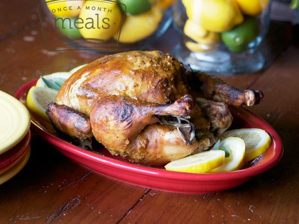 Sunday Roast Chicken - Whole30 Compliant - Once A Month Meals ...