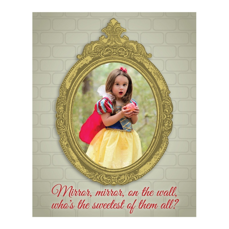 Snow white mirror on the wall
