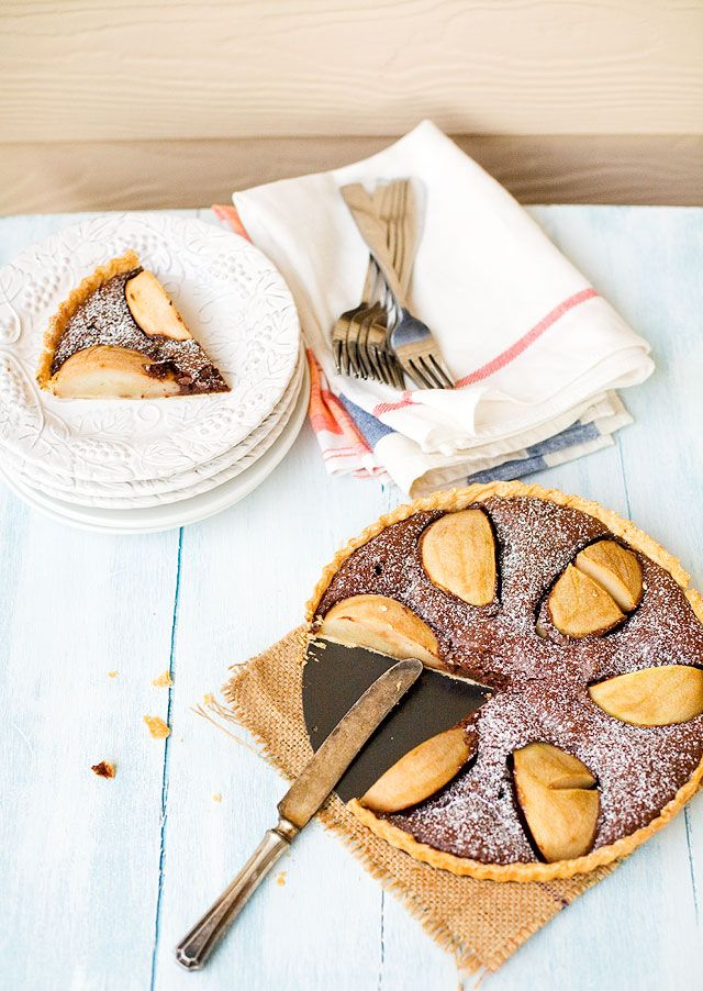 Chocolate and Pear Tart | Sweet Delights | Pinterest