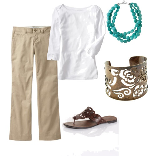 white + khaki could wear daily if I could get away with it