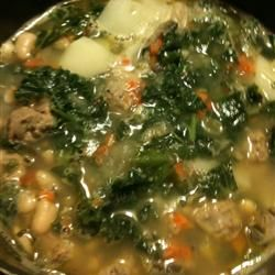 Savory Kale, Cannellini Bean, and Potato Soup Allrecipes.com -- my ...