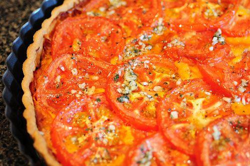 Tomato Tart Recipe and Pate Brisee Recipe