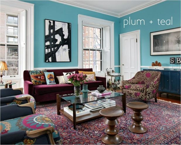 Plum And Teal Colors Together Color Pinterest