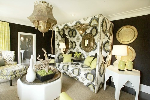daybed with fabric around it