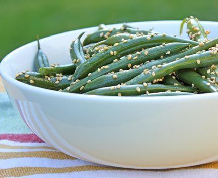 sesame green bean salad | Recipes | Pinterest