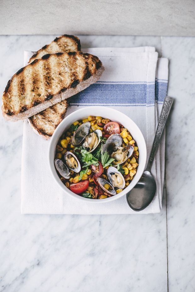 corn bacon and clam stew photos by izy hossack top with cinnamon for ...