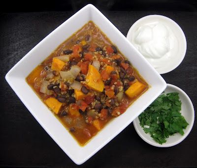 quinoa black bean and sweet potato chili tried this with pumpkin and ...