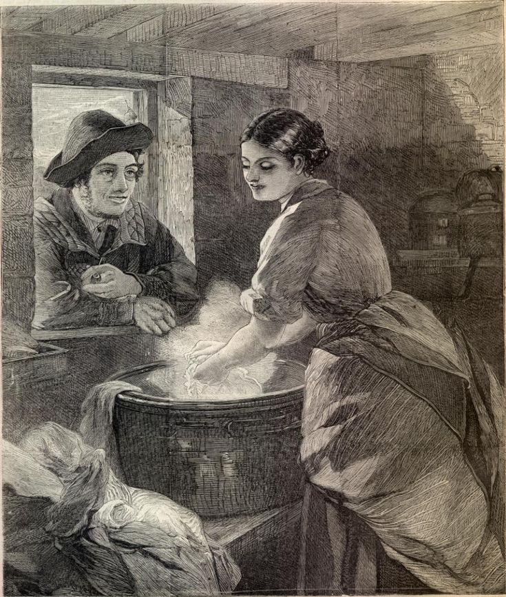 """Rustic Courtship"" Harpers c.1865"