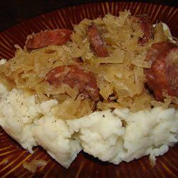 ... my favorite meals! Slow Cooker Sauerkraut and Sausage Allrecipes.com