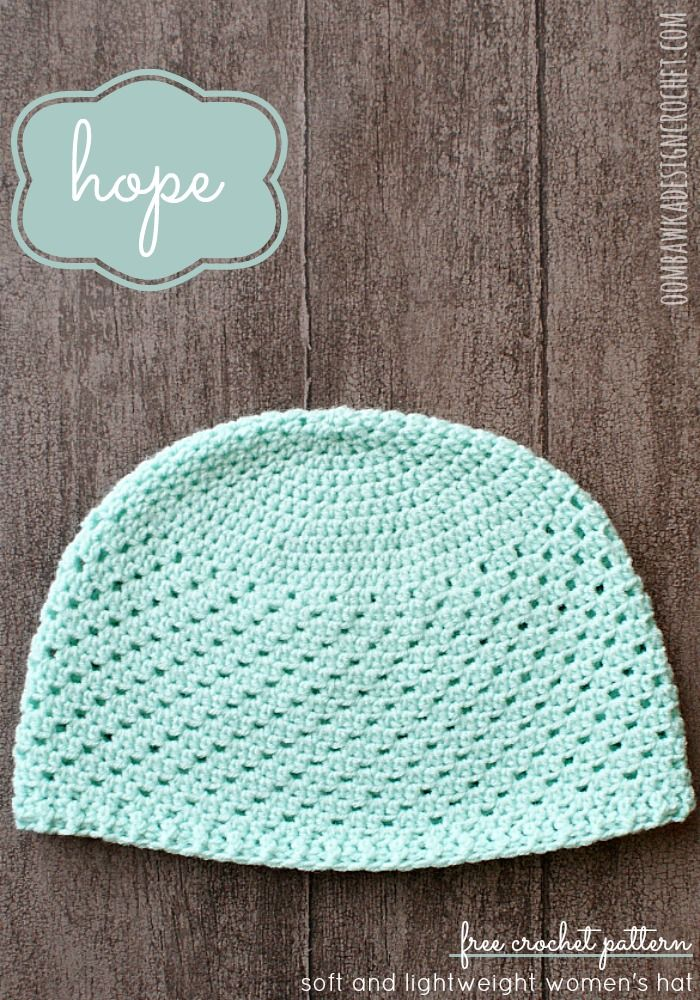 Crocheting Hats For Cancer Patients : Hope - Womens Hat - Free Crochet Pattern - Crochet Hats Pinterest