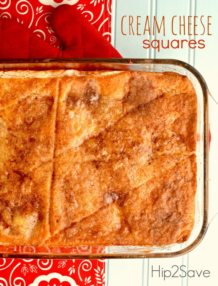 Cream Cheese Squares Recipe - I have made this many times and always a ...