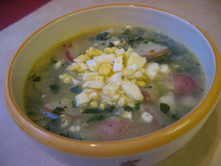 Quinoa Chowder with Feta, Spinach and Scallions