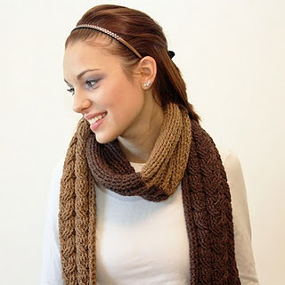 Crochet Cable Scarf - Has the look of being knitted...