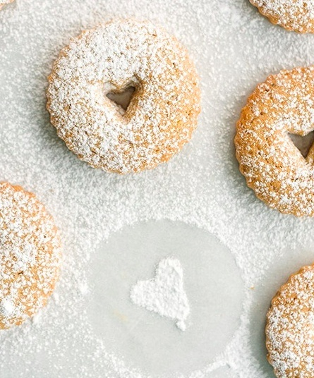 Linzer Cookies With Cherry Filling. | Food & Drinks | Pinterest