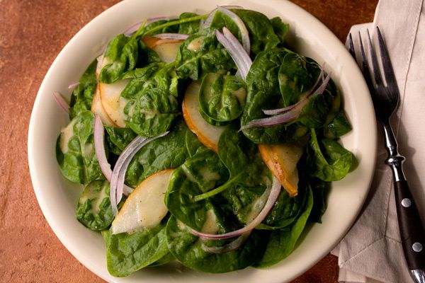 Pear and Spinach Salad | salads | Pinterest