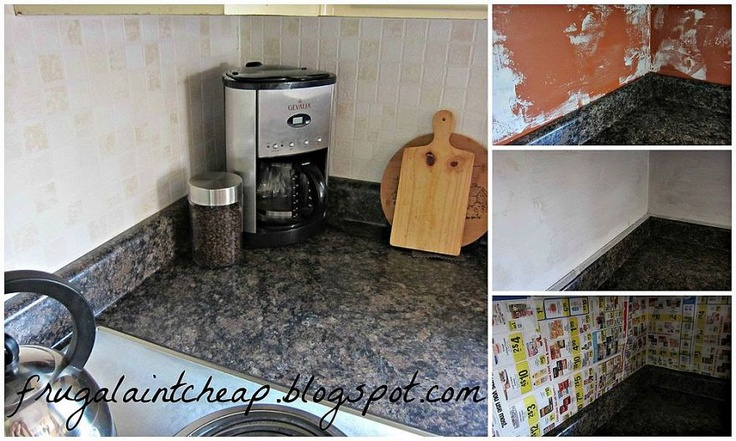 Easy and inexpensive kitchen backsplash for Cheap and easy kitchen backsplash ideas