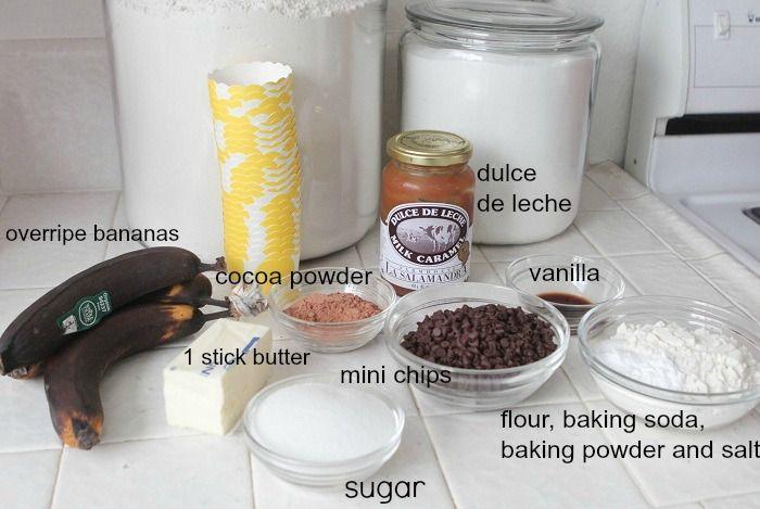 Dulce De Leche Chocolate Banana Muffins Recipe — Dishmaps