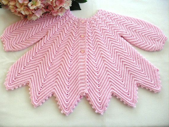 Free Crochet Pattern For Baby Jumpsuit : Digital new born Baby Crochet Jacket Pattern with Easy to ...