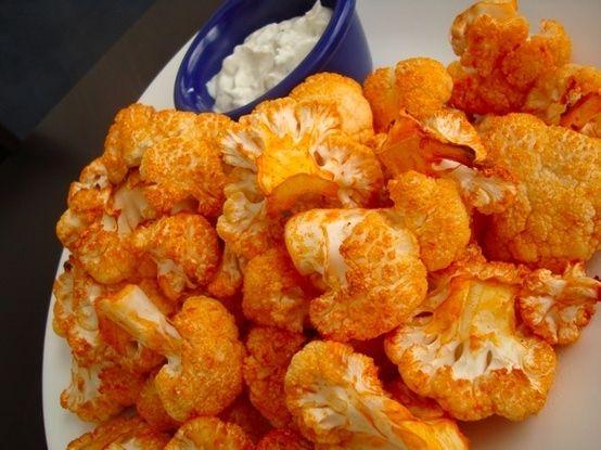 Roasted Cauliflower Recipe | Buffalo Roasted Cauliflower by tracie