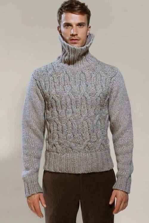 Turtleneck Sweater Man 90