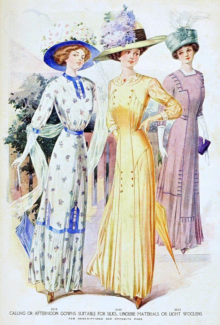 Мода Plate - Журнал Макколл, август 1910
