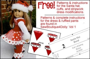 Christmas doll clothes