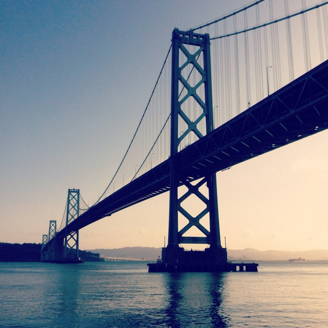 This is a photo of the bay bridge.