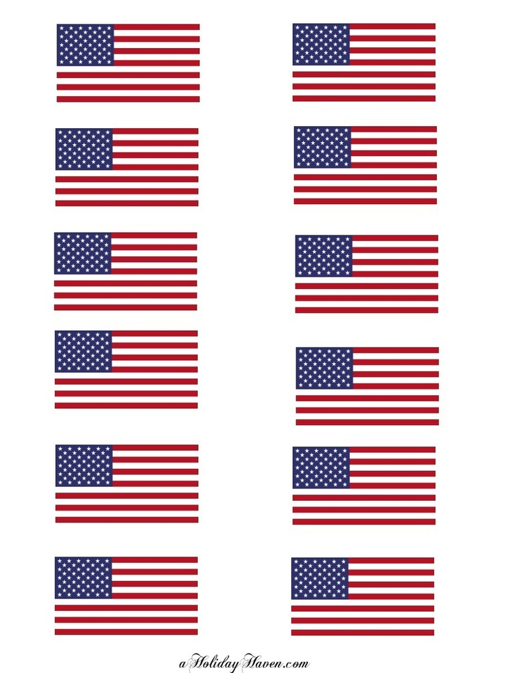 american flag to print