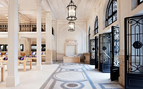 Paris' new Apple Store. Hot.