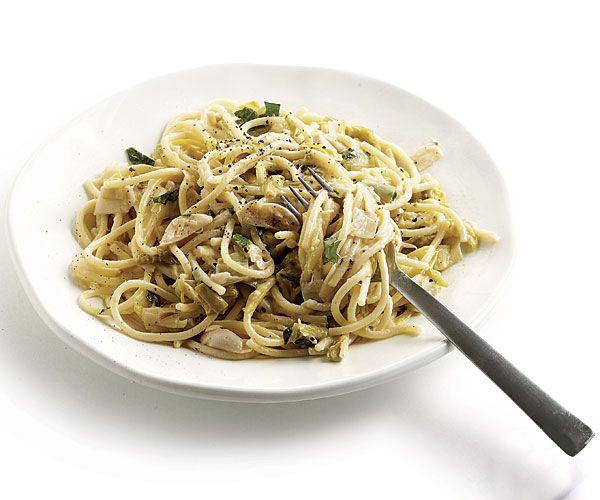 Spaghetti with Creamy Braised Garlic and Leeks | Recipe