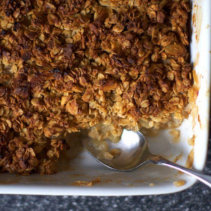 Breakfast Apple Granola Crisp Recipe | Good for you food | Pinterest