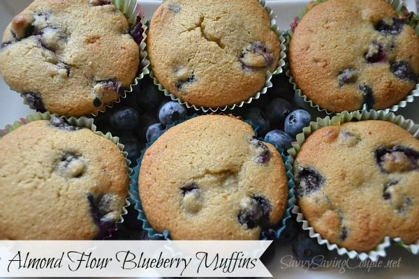 Blueberry Muffins Made with Almond Flour *Low Carb & Gluten Free ...
