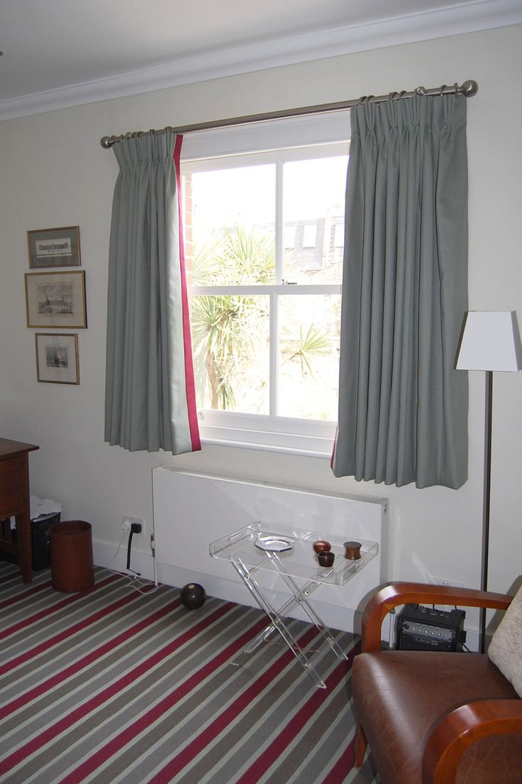 short, gray curtains | Future Home | Pinterest