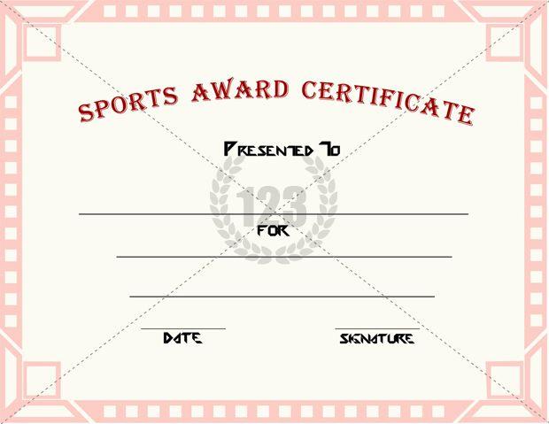 sports certificates templates