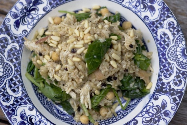 Brown Rice Pilaf with Chicken and Chickpeas