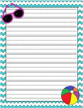 Summer writing paper maxwellsz