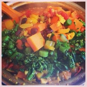 Hearty Winter Vegetable Soup | Eating healthy | Pinterest