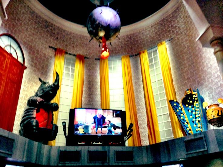 The inside of Gru's house of Minion Mayhem at Universal Studios Orlando