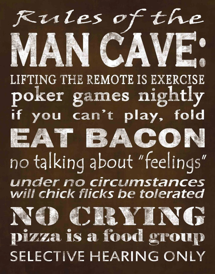 Man Cave Rules Ideas : Man cave rules dude stuff pinterest