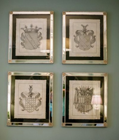 Love the silver frames with black mat | Renovate and Decorate | Pinte ...