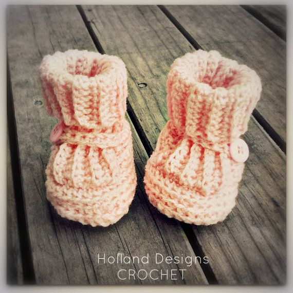 Classic Ribbed Baby Booties