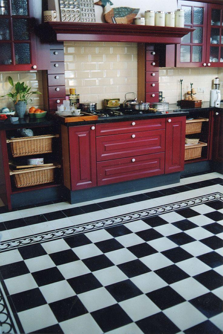 Vloertegels Keuken Zwart Wit : Keuken Cementtegels Pinterest