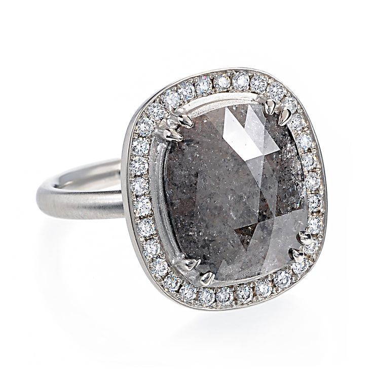 Sparkling with fascinating natural characteristics a cushion cut grey diamo